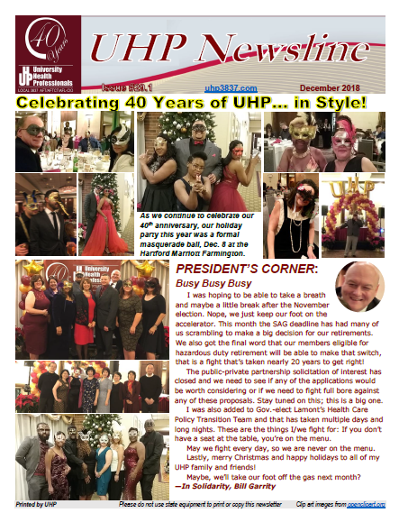 UHP Newsletter Dec 2018